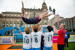 Homeless World Cup 2016, George Square, Glasgow, Scotland - 16 July 2016 (Homeless World Cup Official) Tags: hwc2016 homelessworldcup aballcanchangetheworld thisgameisreal streetsoccer glasgow soccer southkorea celebration coach scotland