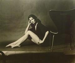 Christine, 1963 (Snapshooter46) Tags: nationalportraitgallery photograph monochrome christinekeeler chair model showgirl beauty lewismorley photographer 1963 london artgallery