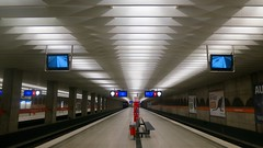 Munich after sunset: in an underground station;.... (F.R.L., thanks for your views and comments!) Tags: underground metro subway ubahn architecture