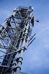 Comm Tower in Fumay (Former Instants Photo) Tags: antenna broadcasttower communication