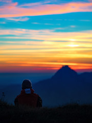 A silent moment in wonder. (Simon Matzinger) Tags: wonderful moment grace silence sunrise mountain colorful colourful salzkammergut traunstein pastel sky morning amazing