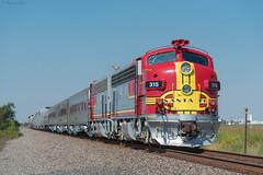 RPCX 315 / Rosenberg, Texas (Donovan J. Reed) Tags: texas train rpcx galvestonrailroadmuseum santafe emd f7