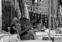 Marina Grande Sorrento (Carol Martin 13) Tags: marinagrandesorrento harbour harbourlife cafeculuture italy sorrento blackandwhite monochrone