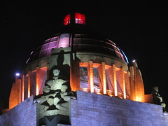 Dome and sculpture at night, Monumento a la Revolución, Mexico City (Paul McClure DC) Tags: mexicocity mexico feb2015 distritofederal architecture sculpture ciudaddeméxico cdmx