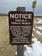 IMG_7379 (photoplanet2007) Tags: new beach public sign highlands notice sandy jersey sexual hook activity arrest gunnison