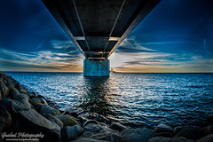 DSC_0707-2 (grahedphotography) Tags: bridge summer sun water denmark skne nikon sweden nikkor malm sunet resundsbron limhamn resunds