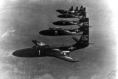 VMF-122 FH-1 Phantom formation (skyhawkpc) Tags: usmc airplane inflight aircraft aviation navy formation marines phantom naval usnavy usn 1949 mcdonnell usmarines bc2 bc1 bc3 bc4 bc7 fh1 111795 vmf122