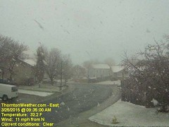 March 25, 2015 - A quick shot of snow in Thornton. (ThorntonWeather.com)