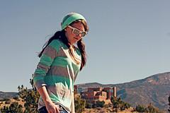 (K. Sawyer Photography) Tags: trees portrait mountain girl sunglasses skateboarding teen adobe skateboard teenager teenage sandiamountains placitasnewmexico