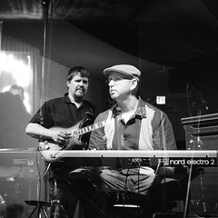 Birdland Jazz Club, Oakland (Timothy Lewis Jr.) Tags: musician delta 3200 jazzclub yashicad blackandwhitefilm hammondleslie nordelectrokeyboard