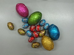 EASTER IS HERE! (Robin Hutton) Tags: wrapping easter artwork chocolate eggs coloured robinhuttonart
