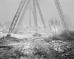 *** (IgnatTsokolaev) Tags: bw film fog wide foggy largeformat