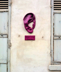 Paris 2015 (Hanoi1933) Tags: paris france surveillance ear rue mur oreille parigi 2015   parisstreetart  pariswallart