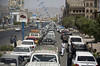 Cars queue for fuel after Yemen airstrikes