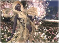 dancing Drow (Alea Lamont) Tags: black rose female hair skins skin bare avatar fantasy faire shape drow magika ndmd