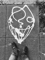 zamar (eb78) Tags: sf sanfrancisco california ca blackandwhite bw monochrome graffiti tag bayarea grayscale greyscale iphone zamar iphoneography mrtentacool
