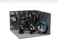 Court of Owls Attack on the Batcave - Lego Ideas (TheGekoMovement) Tags: court comics scott dc greg lego talon batman minifig custom ideas snyder capullo owls minifigure batmech