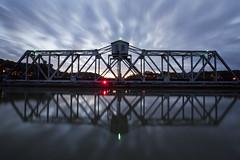 petaluma river crossing (eb78) Tags: longexposure petalumariver northbay swingbridge railroad nightphotography sonoma explore blackpoint river california ca bluehour npy reflection