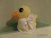 Rubber ducky topper (junikraftcakes) Tags: duck rubberducky afternoontea christeningcake miniatureteaset teapartycake