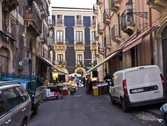 Altstadt / Old town (schreibtnix on 'n off) Tags: italien shadow italy travelling cars reisen europa europe lane sicily autos altstadt oldtown schatten catania gasse sizilien olympuse5 schreibtnix