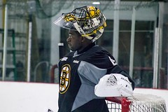 Malcolm Subban (Odie M) Tags: boston wilmington ristucciamemorialarena bostonbruins developmentcamp rookies 2016developmentcamp nhl hockey icehockey teamsport sport malcolmsubban goalie face