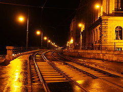 P6021393_01 (photos-by-sherm) Tags: budapest pest night grand boulevard st stephens basilica spring rain