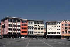 Colours & Shapes (Isengardt) Tags: rathaus rathausplatz marktplatz marketplace color colour shape form haus huser houses house stdtisch urban architecture architektur stuttgart badenwrttemberg deutschland germany europe europa olympus omd em1 1250mm