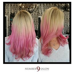 "On Wednesdays, we wear pink!! It doesn't get much prettier than foiled highlights with hand-painted pink accents for a fun, mermaid look! Created by stylist, Michelle S. #hair #dtsp #tampabay #color • <a style=""font-size:0.8em;"" href=""http://www.flickr.com/photos/41394475@N04/27968049154/"" target=""_blank"">View on Flickr</a>"