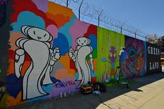 Artist at Work (Eddie C3) Tags: newyorkcity streetart graffiti astoriaqueens wellingcourtmuralproject