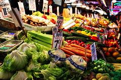 Fruits and Veggies (Albert Jafar) Tags: seattle lighting fruits market ngc indoor neonsign produce pikeplacemarket fruitsandveggies photographerswharf