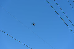 UAV Inspects Transmission Lines in Nashua (eversourcenh) Tags: uav nashua ransmission drones transmission