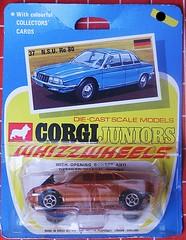 N.S.U. Ro 80 (streamer020nl) Tags: 1970 corgi junior juniors mettoy greatbritain gb diecast metal toys jouets models speelgoed auto car collector card whizzwheels