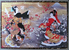 Flowers of the Orient (puzzle 2 - 1000 pieces) (pefkosmad) Tags: girls art japan painting women hobby puzzle geisha leisure kimono jigsaw pastime 1000pieces onepiecemissing 500pieces flowersoftheorient haruyomorita expressgiftsltd webbivory mglukcom