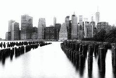 A Manhattan Skyline 2 B (8230This&That) Tags: nyc newyorkcity blackandwhite ny brooklyn manhattan eastriver