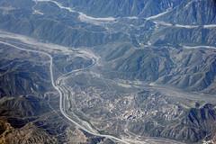 Aerial view of Cajon Pass, San Bernardino County, California (cocoi_m) Tags: california railroad nature track aerial sanandreasfault geology lostlake i15 geomorphology aerialphotograph interstate15 sanbernardinocounty cajonpass