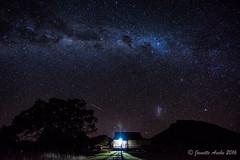 Under the Milky Way (NettyA) Tags: winter house tree silhouette night stars nightscape cottage australia hut astrophotography qld queensland milkyway 2016 mtmaroon seqld sonya7r