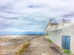 White Cottage with Blue Door (HelenBushe) Tags: house knottend cottage coastal wyre estuary nationalgeographic