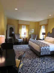 The Bedroom in My Suite at the Mayton Inn -- Cary, NC, July 3, 2016 (baseballoogie) Tags: maytoninn nc northcarolina hotel room hotelroom 070316 baseball16 canonpowershotsx30is cary