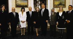 Queen Noor, King Hussein, Leah Rabin, Rabin, Hillary Clinton, Bill Clinton, Yasser Arafat, Suha Arafat and Hosni Mubarak (Doc Kazi) Tags: jordan hashemite kingdom monarchy hussein talal hassan sarvath noor lisa clinton hillary bill rabin leah mobarak yasser arafat hosni suha princes princesses nineties middle east peace oslo ii