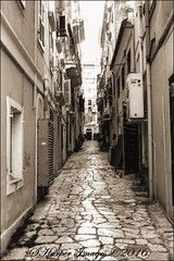 To the Point (scotty NEX harper) Tags: sony nex7 corfu greece vacation holiday resort alley cobble stones narrow perspective