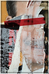 a perfect politician (PIKTORIO) Tags: berlin germany decollage man layers ripped torn lacerated fragments gooey smart politician redbarface candidate piktorio street detail advertising