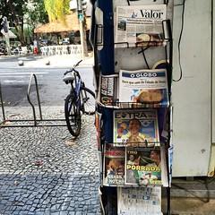 Rio street scene (Mansir Petrie) Tags: newspapers streetscene olympics rio2016