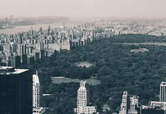 Manhattan Cityscape (AngelK32) Tags: bigapple nyc newyork manhattan usa unitedstates rockefeller midtown centralpark urban skyline cityscape blackandwhite landscape skyscraper topoftherock 1442mm kitlens olympusmzuikodigitaled1442mmf3556 em10 olympus mirrorless microfourthirds travel observationdeck