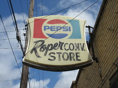 Birmingham, Alabama (ggbcwe) Tags: pepsi cola jefferson county birmingham downtown alabama mini mart roper store bama grocery advertising