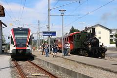 2016-09-03, CFF/HSTB/NOB, Baldegg (Fototak) Tags: eisenbahn train treno railway switzerland seetal gtw stadler dampflok vapeur sbbcffffs rabe520 520005 456 nob hstb