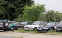Panhard 24C, Fiat 128, Peugeot 205 and Honda Prelude (Spottedlaurel) Tags: fiat 128 panhard 24c honda prelude