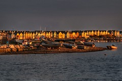 Last Of The Day's Sun (Nick Fewings 4.5 Million Views) Tags: ocean water sea sky property landscape canoneos7dmarkii nickfewings uk 2016 september summer twilight evening sun spit boats sand huts beachhuts beach mudeford dorset