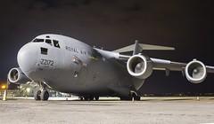 ZZ172 Royal Air Force Boeing C-17A Globemaster III @ Exeter Airport, Devon. (Sw Aviation) Tags: zz172 royal air force boeing c17a globemaster iii exeter airport devon c17 military airplane aircraft avgeek aviation