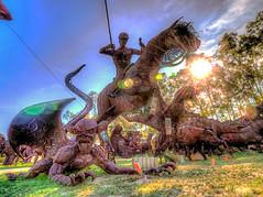 Polo Player and Demon (Michael F. Nyiri) Tags: california southerncalifornia anzaborrego desert ricardobreceda art sculpture metalsculpture temeculacalifornia
