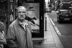 To The Horizon (Leanne Boulton) Tags: people monochrome depthoffield urban street candid portrait portraiture streetphotography candidstreetphotography candidportrait streetlife man male face facial expression look emotion feeling atmosphere distant misery sadness emptiness tone texture detail natural outdoor light shade shadow city scene human life living humanity society culture canon 7d 50mm black white blackwhite bw mono blackandwhite glasgow scotland uk
